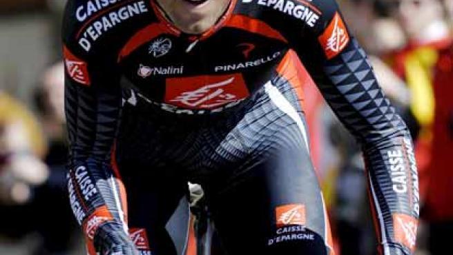 Alejandro Valverde en la Vuelta a Castilla y León.
