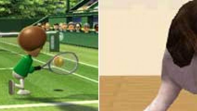 Wii Sports y Nintendogs.