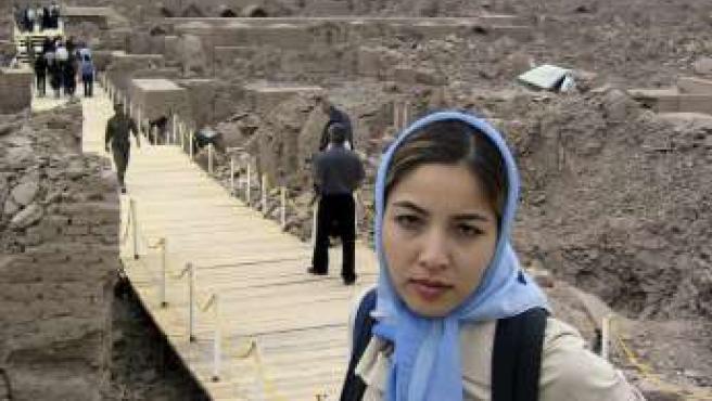 La periodista Roxana Saberi en Bam, al sudeste de Teherán, en una imagen de archivo.