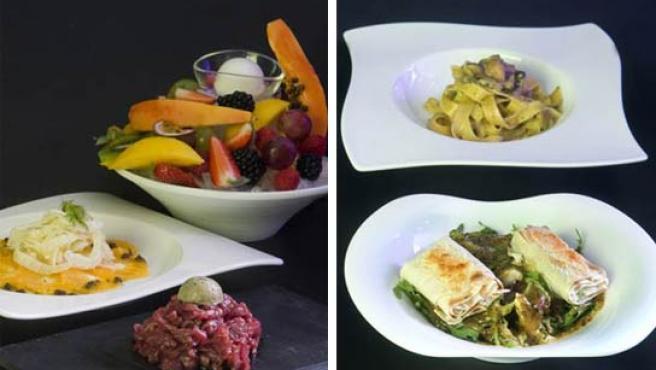 Dos menús del restaurante italiano Boccondivino.