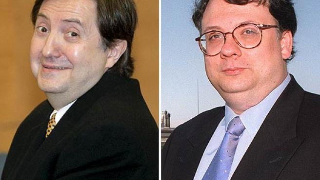 Federico Jiménez Losantos y César Vidal, en imágenes de archivo.