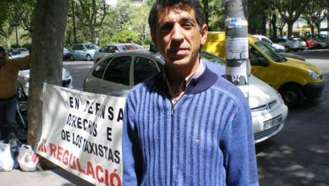 El taxista valenciano que está en huelga de hambre.