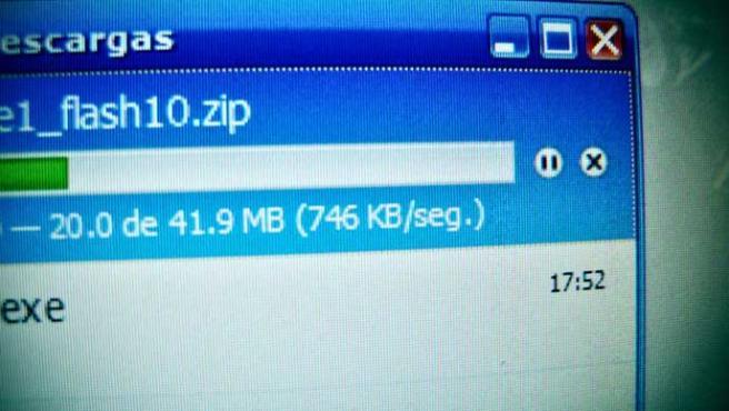 Imagen de una barra de descarga.