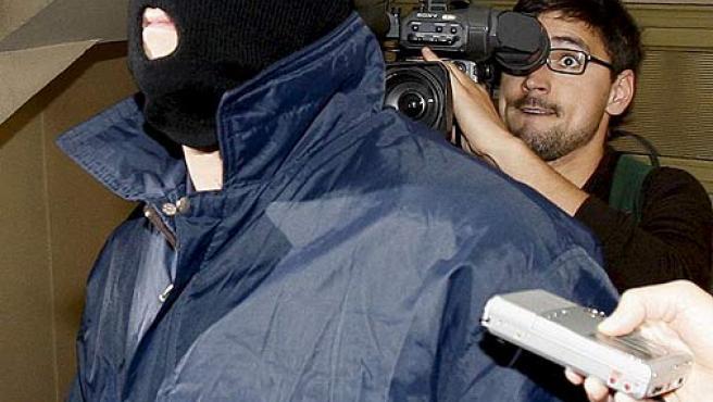 Alejandro Martinez Singul, a su llegada a los juzgados de Barcelona.