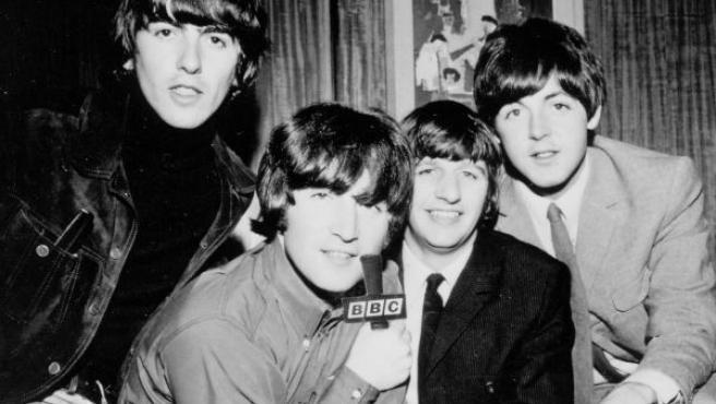 The Beatles es una foto de archivo.