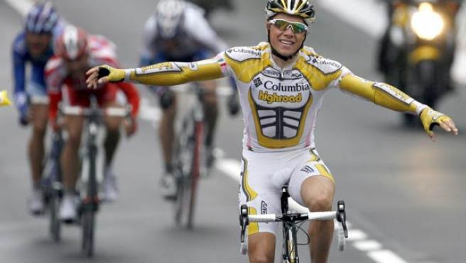 Boasson Hagen celebra la victoria