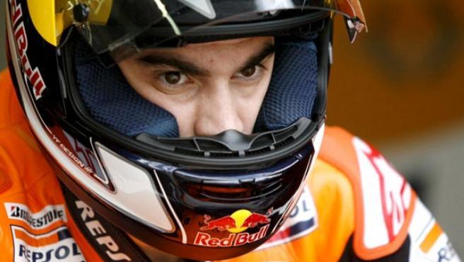 El piloto español de MotoGP Dani Pedrosa.
