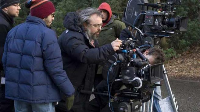 Álex de la Iglesia en el rodaje de película 'Los crímenes de Oxford'.