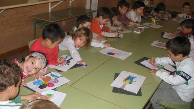 Un grupo de niños en una de las ediciones pasadas de Zaragalla.