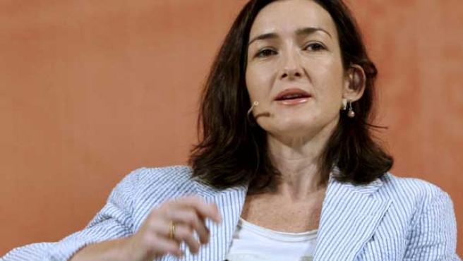 La ministra de Cultura durante en el Congreso Internacional de Economía y Cultura.