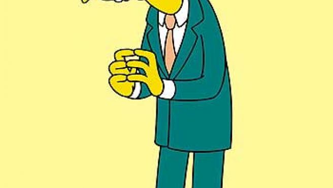 El dueño de la central nuclear de Springfield, Mr. Burns.
