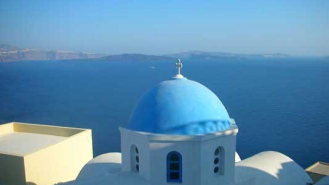 La arquitectura blanca es típica del Mediterráneo.
