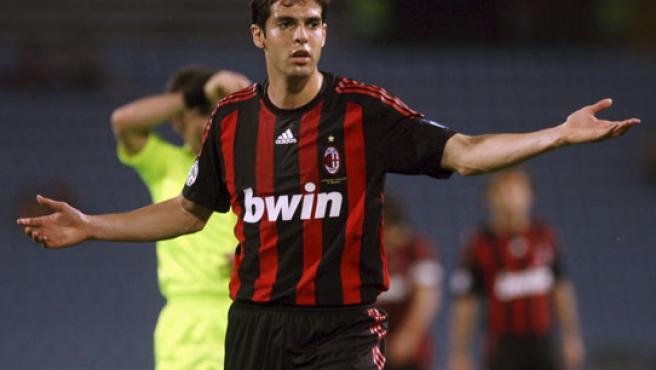 Kaká se lamenta en el partido ante Udinese.