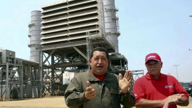 Chávez durante un momento de la emisión de 'Aló Presidente'.