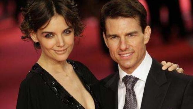 Katie Holmes y Tom Cruise.
