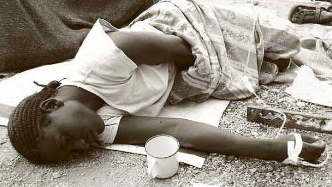 Una víctima del cólera, en Beitbridge, Zimbabue.