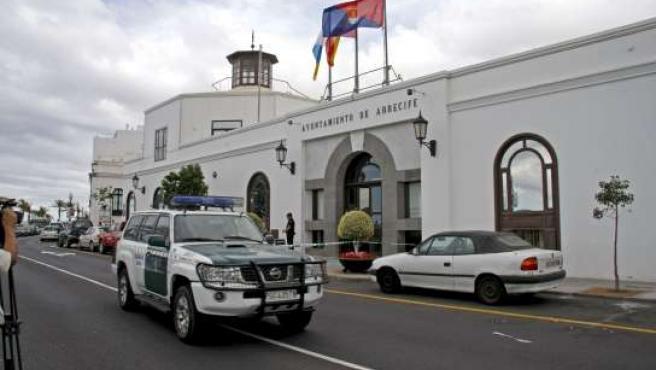 Un momento del registro del Ayuntamiento de Arrecife (Lanzarote).