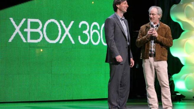 Steven Spielberg en la conferencia de Microsoft.