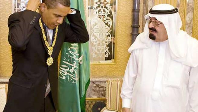 Barack Obama y el rey Abdulá.