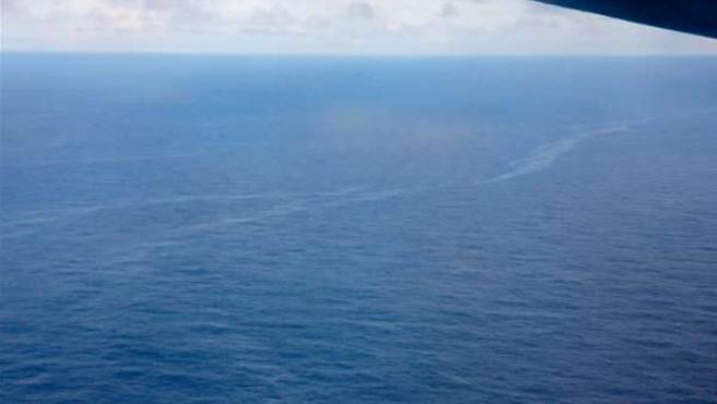 Una mancha de queroseno sobre el Atlántico que podría ser del AF 447.