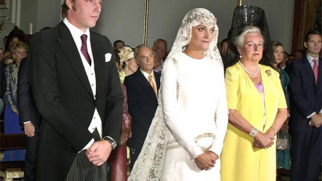 Laura Ponte y Beltrán Gómez-Acebo se casaron en 2004 tras seis años de noviazgo.