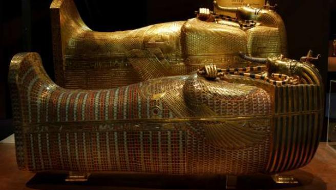 Sarcófagos de la tumba de Tutankhamon.