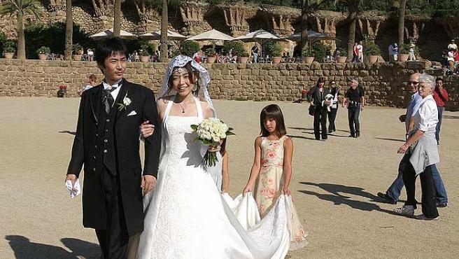 Una boda japonesa celebrada en Barcelona.
