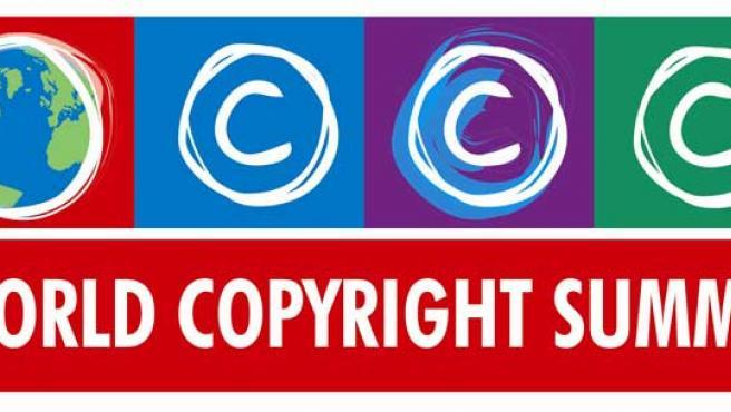 Logo de la Cumbre Mundial de Derechos de Autor.