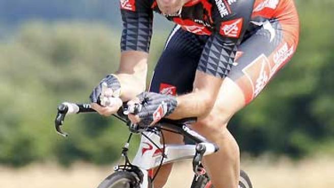 Alejandro Valverde, en una contrarreloj.