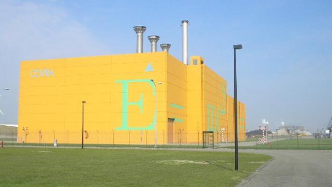 Edificio de la Organización Central para la Basura Radiactiva en Holanda.