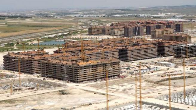 Imagen de archivo de la construcción de la urbanización de 'El Pocero' en Seseña,