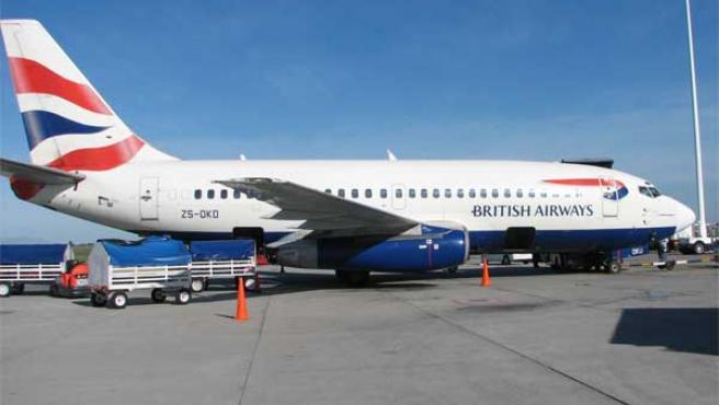 Un avión de la compañía British Airways.