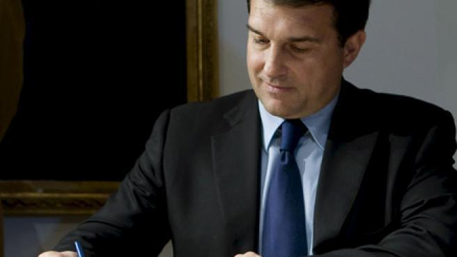 El presidente del FC Barcelona, Joan Laporta.