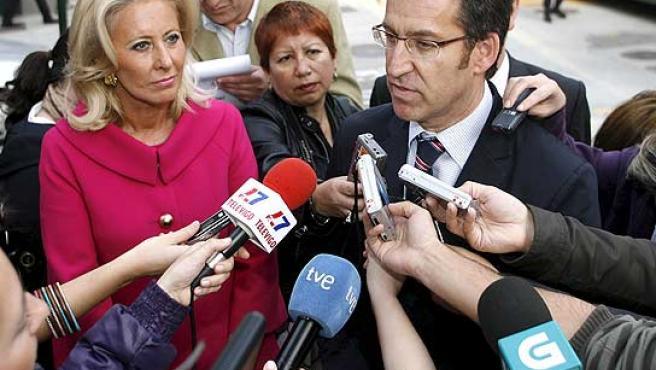El nuevo presidente de la Xunta, ante los medios.