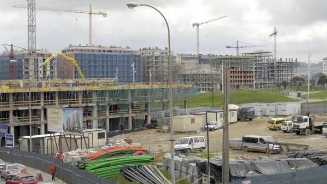 Pisos en construcción en A Coruña.