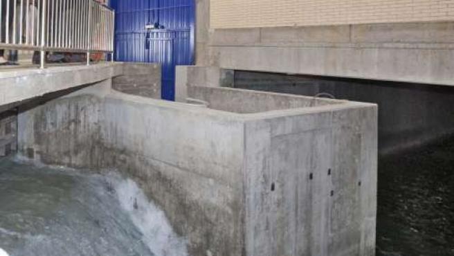Belloch visitó las instalaciones de los nuevos depósitos de Casablanca.