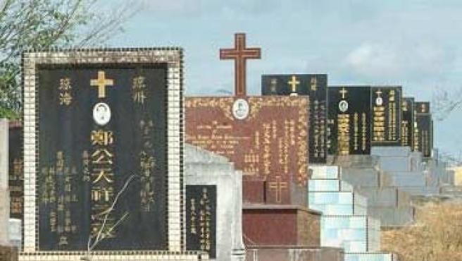 Cementerio en China.