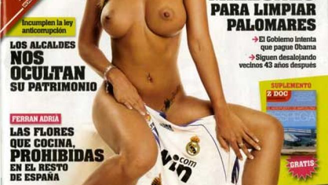 Nereida Gallardo posa en la portada de 'Interviú'.