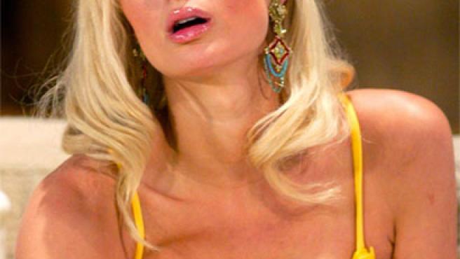 Paris Hilton, con una pose muy sensual.