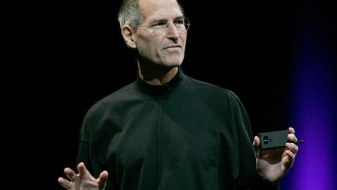 Steve Jobs durante una conferencia de Apple.