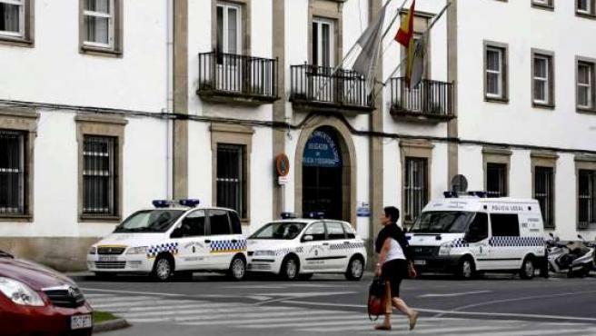 Fachada de la sede de la Policía Local de Lugo, que ha sido registrada.