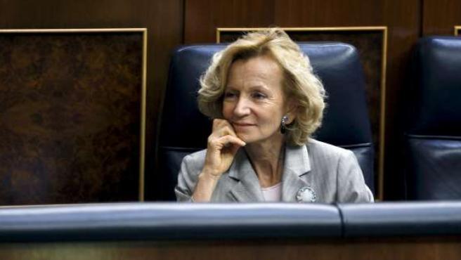 Elena Salgado en el Congreso.