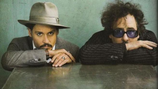 Johnny Depp y Tim Burton