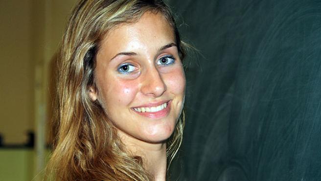Alexandra García, la estudiante con la mejor nota de la Selectividad 2009 en Cataluña.