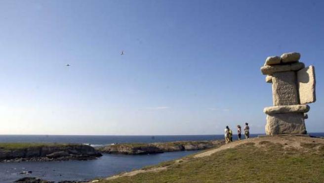 Vista de las islas de San Pedro desde O Portiño.