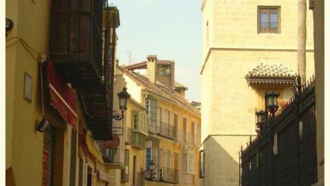 Vista de la calle San Agustín, en Málaga.