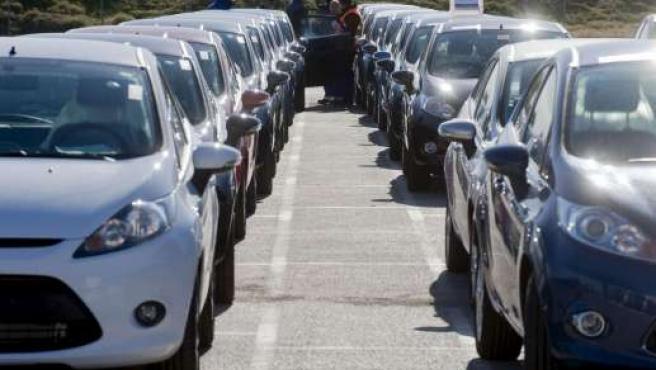 Modelos del Ford Fiesta que se produce en Almussafes (Valencia).