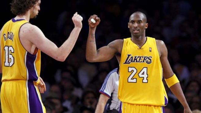 Pau y Kobe, ante Houston