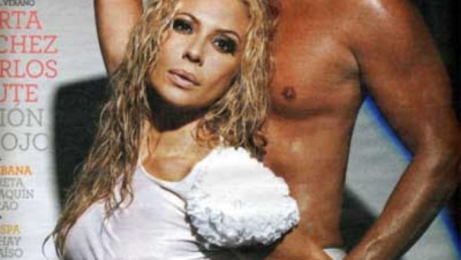 Marta Sánchez y Carlos Baute en la portada de el Magazine.