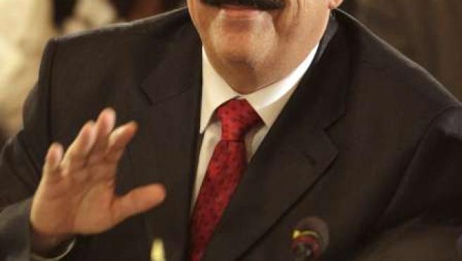 El presidente depuesto de Honduras, Manuel Zelaya, poco antes de su discurso de este martes ante la OEA.